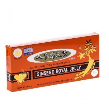 Ginseng Royal Jelly, 10 fiole, China